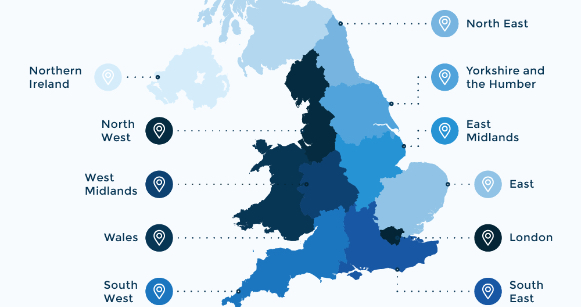 Best places in the UK to find work - Britain's job demand map (Infographic)