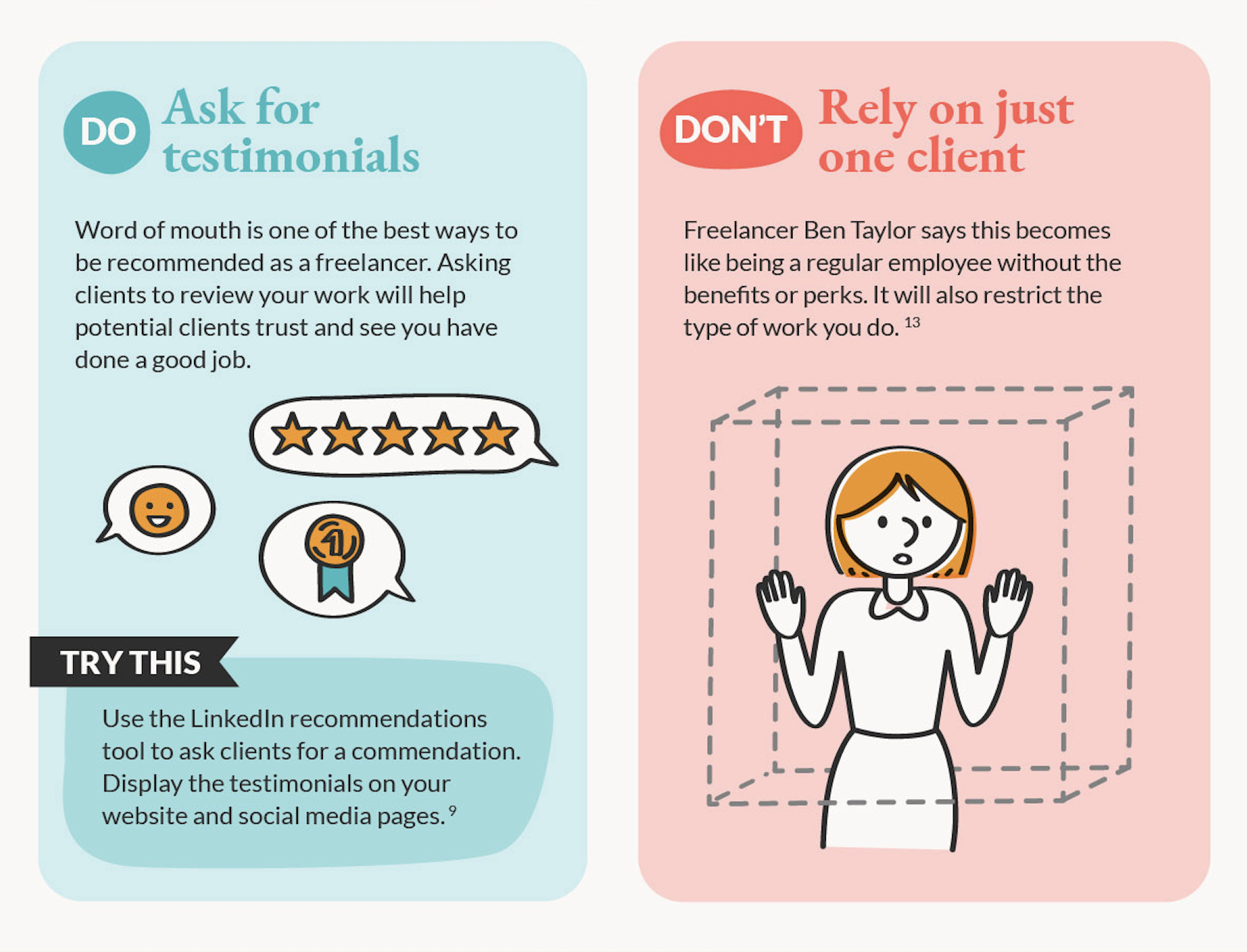 testimonials and word of mouth recs